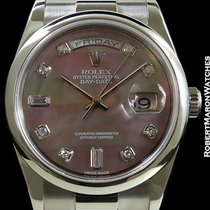 Rolex 118209 Day Date 18k White Gold Tahitian Mop Dial Box...