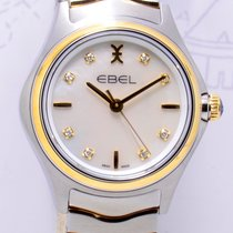 Ebel Wave Lady 30mm Stahl Gold MOP Dial Diamond NEU Klassiker