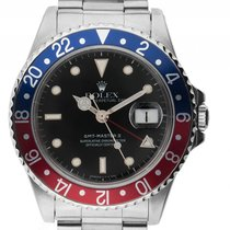 Ρολεξ (Rolex) GMT Master II rot blau Pepsi Stahl Automatik...
