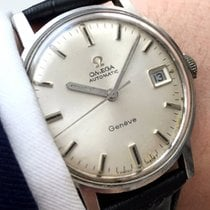 Omega Geneve Automatic Automatik Date Steel Vintage