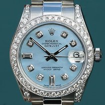 Rolex Watch Datejust Midsize Ladies 178240 Blue Mop Diamond...