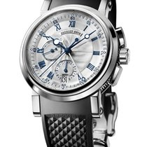 Breguet Marine Chronograph Rubber 18K White Gold Men`s Watch