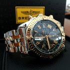 Breitling Chronomat Evolution Gold Steel Black Roman Dial 44...