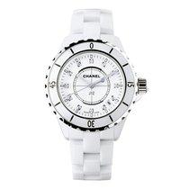 Chanel J12 Diamond White Ceramic Midsize Automatic
