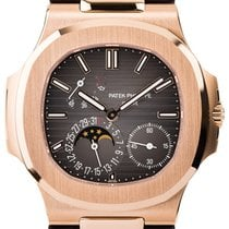 Patek Philippe Nautilus Rose Gold & Leather 5712R-001