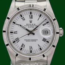 Rolex Oyster Perpetual 15210 Date 35mm White Dial Box&Papers