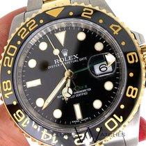Rolex GMT 116713 Master II  Ceramic 2Tone 18K Gold Black