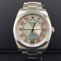 Rolex Oyster Perpetual Air-King 34mm Steel Silver Concentric...