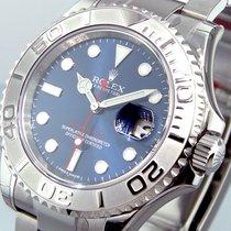 Rolex 116622 Steel Platinum Yachtmaster Blue Dial Oyster Bracelet