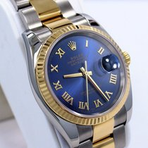 Rolex Datejust 116233 Two Tone 18k Yellow Gold & Ss Blue...