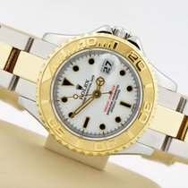 Rolex Yacht-master Two Tone 18k Yellow Stainless Steel White...