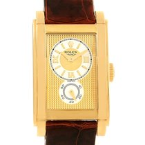 Rolex Cellini Prince Yellow Gold Champagne Dial Watch 5440 Box...