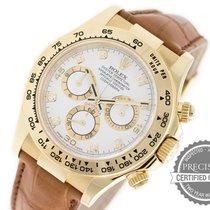Rolex Daytona 18K Yellow Gold White Diamond Dial 116518
