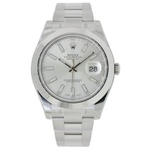 Rolex DATEJUST II 41mm Stainless Steel Silver Dial