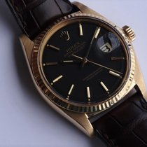 Rolex 1601 Datejust Yellow Gold Black Dial