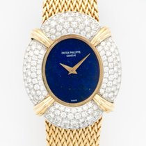 Patek Philippe Yellow Gold Diamond Lapis Bracelet Watch Ref....