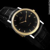 Omega De Ville Mens Midsize Dress Watch with Date - Solid 18K...
