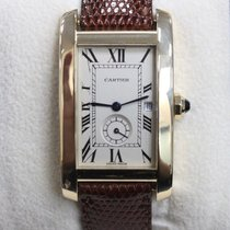 Cartier 1716 Tank  Americaine 18K Yellow Gold Leather Band