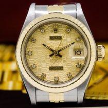 Rolex 69173 Lady Datejust Diamond Gold Dial 18K / SS (26138)