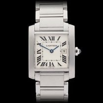 Cartier Tank Francaise Stainless Steel Ladies 2465 or W51011Q3