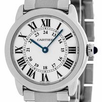 Cartier Ronde Solo Small Silver Dial 29.5MM Round Women Steel...