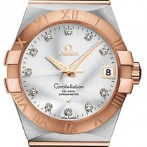 Omega 123.20.38.21.52.001 Constellation Mens in 2-Tone - Steel...