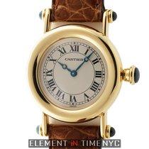 Cartier Diablo Collection 18k Yellow Gold 27mm Silver Roman Dial