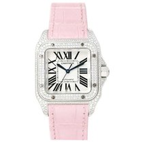 까르띠에 (Cartier) WM501751 Santos 100 White Gold - on Pink...