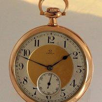 Omega ANTIKE 14K GOLD TASCHENUHR ca.1920