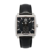 TAG Heuer Monaco Grande Date Steel Black Diamond Indexes (37 x...