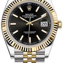 Rolex Datejust 41mm Steel and Yellow Gold 126333 Black Index...