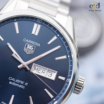 TAG Heuer Carrera Calibre 5 Day-Date Blue Indexes 41mm Steel...