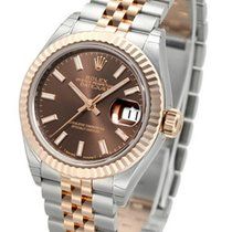 Rolex Datejust 28 Chocolate Dial Index Fluted Jubilee SS/RG...