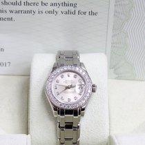 Rolex Ladies 18K White Gold Pearlmaster 69299  Diamond Dial...