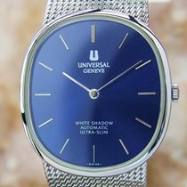 Universal Genève White Shadow Ultra Slim Automatic 1970s Mens...