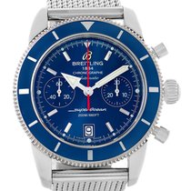 Breitling Superocean Heritage 44 Blue Dial Mens Watch A23370...