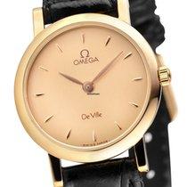 Omega De Ville Prestige Damenuhr 18 Kt. Gold NOS