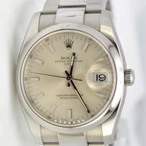 Rolex Date Stainless Steel Silver Dial