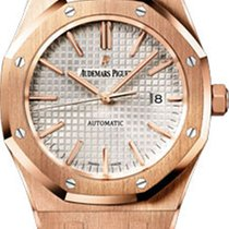 Audemars Piguet Royal Oak Automatic 41mm White Dial Leather Strap