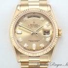 Rolex Day Date 118238 Gelbgold 750 Diamanten Automatik 36mm