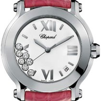 ショパール (Chopard) Happy Sport Round Quartz 36mm 278475-3001 Pink