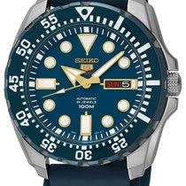 Seiko 5 SRP605K2 Automatik Diver silber blau 44mm 100M
