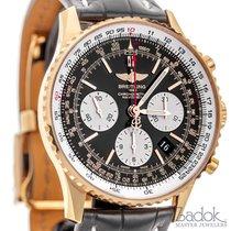 Breitling Navitimer 18k Rose Gold Chronograph RB012012 Black...