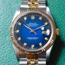 Rolex Datejust Stahl Gold Diamant Zifferblatt