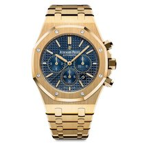 Audemars Piguet Royal Oak Chronograph Yellow Gold Blue Dial 41mm