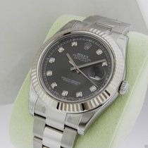 Rolex MENS DATEJUST II RHODIUM DIAMOND DIAL AUTO SWISS 41mm...