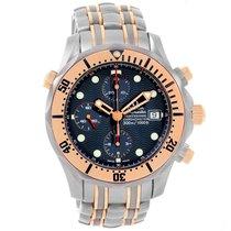 Omega Seamaster Titanium 18k Rose Gold Blue Dial Watch 2296.80.00