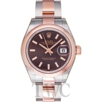 Rolex Lady-Datejust 28 Chocolate Steel/18k Rose gold 28mm -...