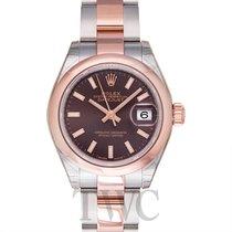 Rolex Lady-Datejust 28 Chocolate Steel/18k Rose gold 28mm -...