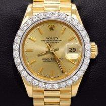 Rolex President Datejust 69178 18k Yellow Gold Dial Diamond...